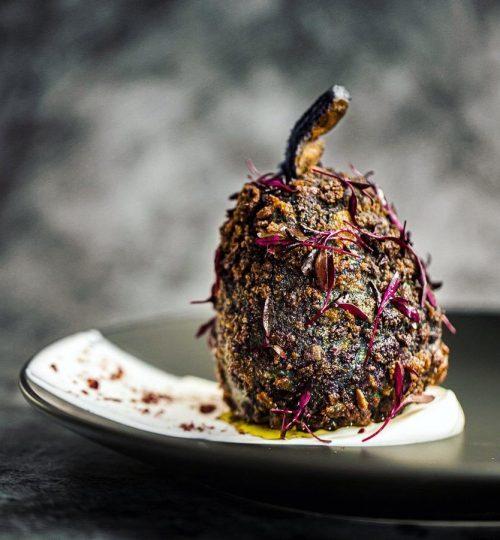 Eggplant transformation   VEGAN fine-dining recipe
