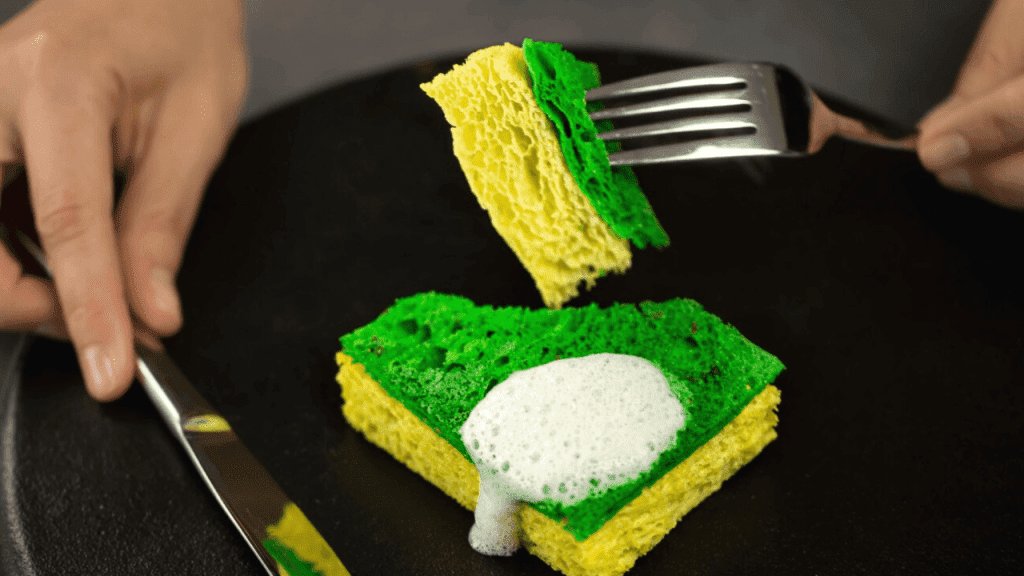 Edible dish sponge