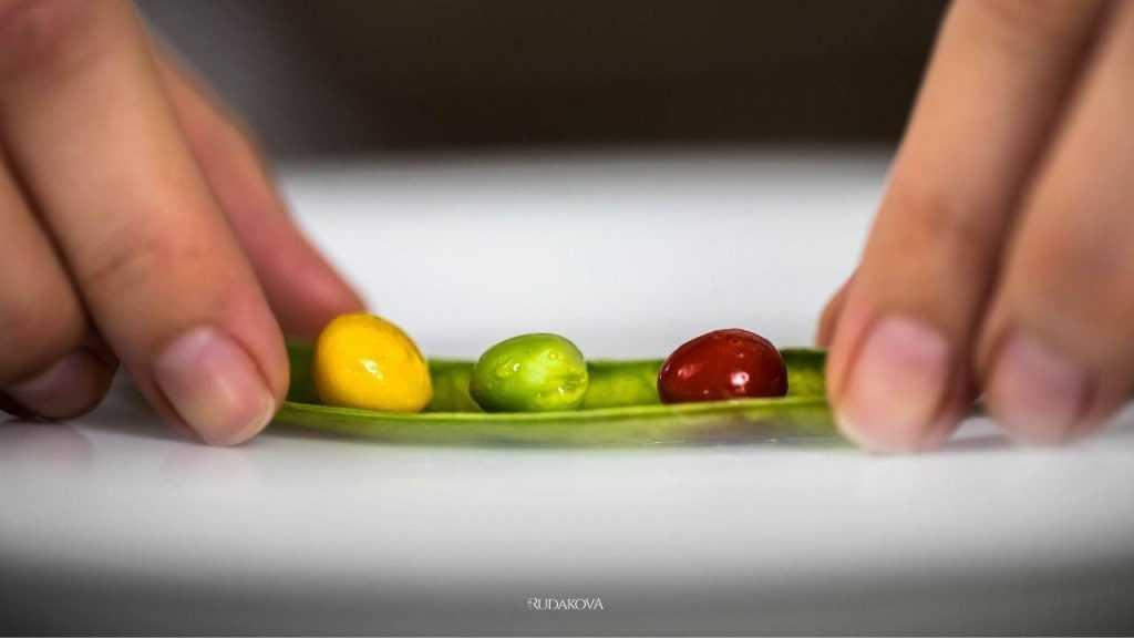 Magic TRAFFIC LIGHT peas [Molecular Gastronomy]