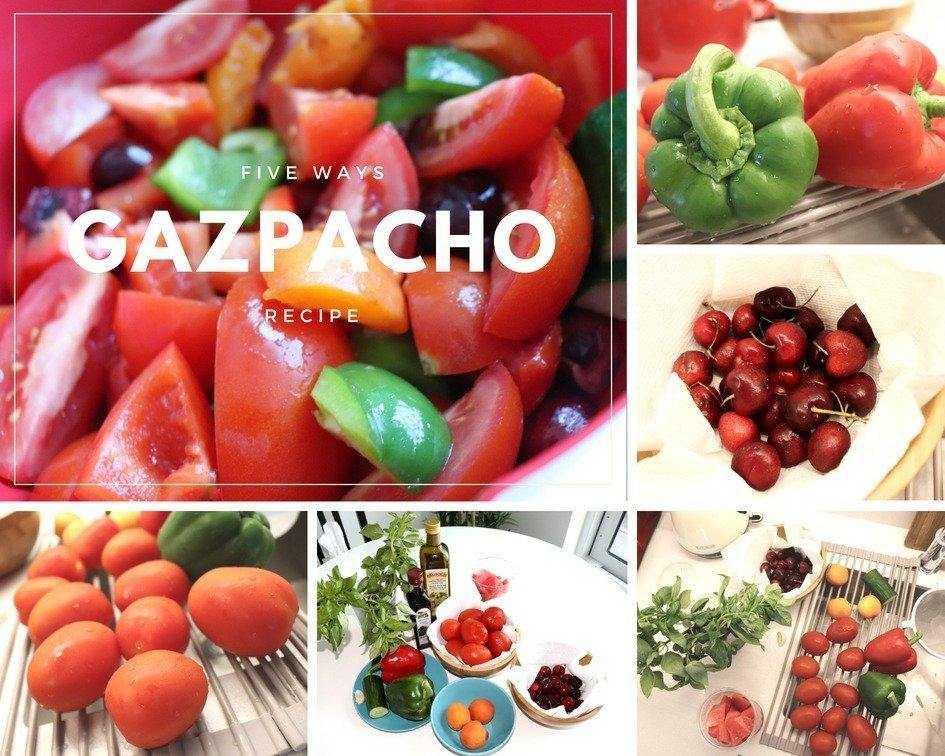 Real pics taken during the process of preparing my vegan Gazpacho soup