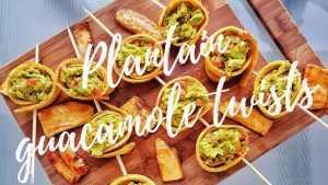 plantain guacamole twists