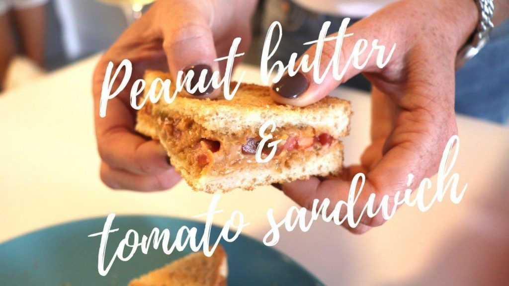peanut butter tomato sandwich