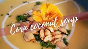 Corn Coconut Cream Soup