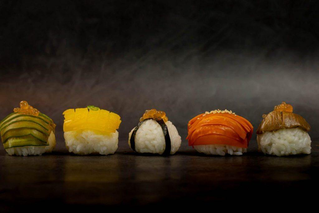 Gourmet vegan sushi