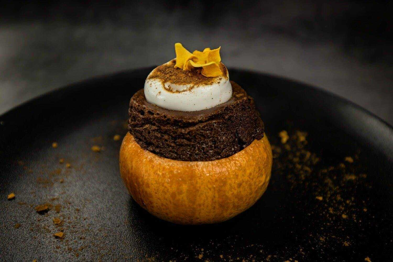 Halloween Pumpkin Chocolate Soufflé